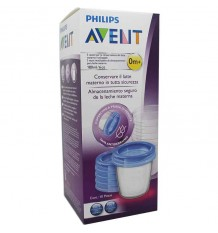 Avent Via Recipientes Leche Materna 180 ml 5 unidades SCF619/05