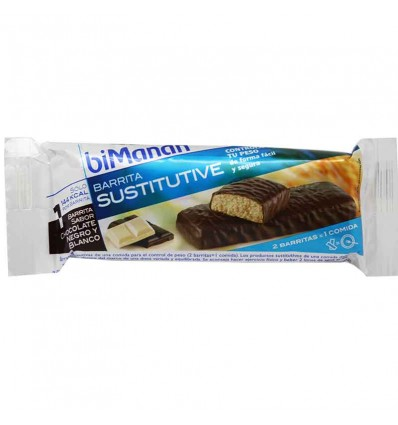bimanan barrita chocolate negro blanco