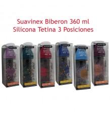 Suavinex Haute Couture Bottle Silicone 3P 360 ml