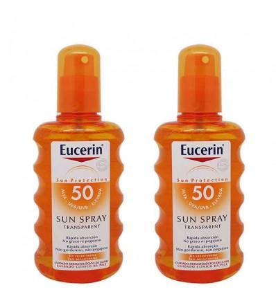 eucerin solar 50 spray transparente 200 ml duplo promocion
