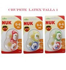 Chupeta Nuk Latex Bairro Sésamo 0-6 2 unidades Recém-nascido