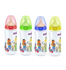 Nuk Biberon Latex Barrio Sesamo 1M 300 ml