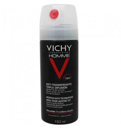 Vichy Desodorante Hombre Antitranspirante Spray 72 h 150 ml