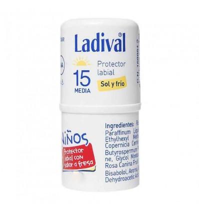 Ladival Crianças Protetor Labial Fator 15 Morango