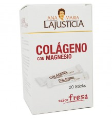 Ana Maria Lajusticia Collagen with Magnesium Sticks Strawberry