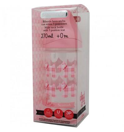 bouteille de rose chiots