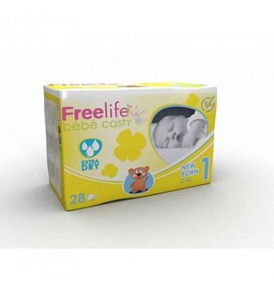 freelife Bebe Cash Fralda Recém-Nascido 2-4 Kg 28 unidades