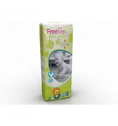 Freelife Bébé Cash Couches Taille 4 7-18 Kg 50 unités