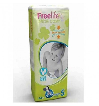 Freelife Bebe Cash Fraldas Tamanho 5 11-25 Kg 44 unidades