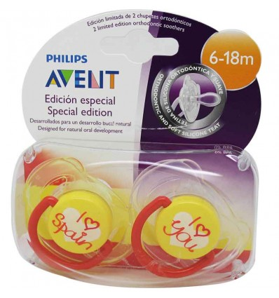 Avent Pacifiers Silicone Spain 6-18 months