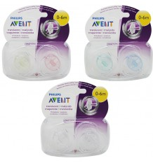 Avent Translucent Pacifiers 0-6 Monate