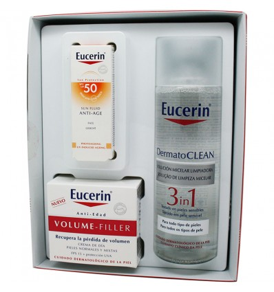 Eucerin Volume Filler Dia Normal Mixta Dermatoclean 200 ml Muestra Solar
