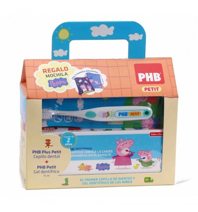 Phb Peppa Pig Pack Cepillo Gel Casita Mochila