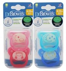 Dr Browns Chupeta Prevent Noite 6-12 meses 2 unidades