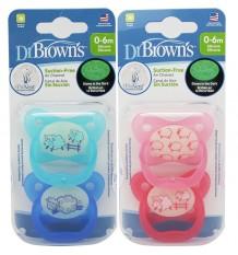 Dr Browns Chupeta Prevent Noite 0-6 meses 2 unidades