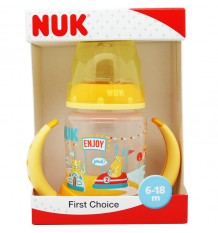 Nuk Flasche Coaching Fantasy-Park-Silikon-gelb