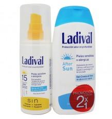 Ladival De Pulvérisation 15 Piles Allergique Après-Soleil En Cadeau