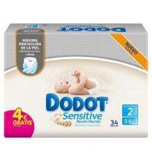 Dodot Diaper Sensitive T2 3-6 34 Units