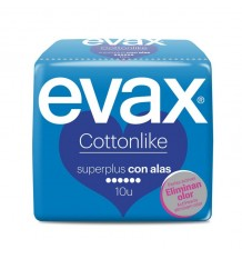 Evax Cottonlike Alas Super Plus 10 compresas