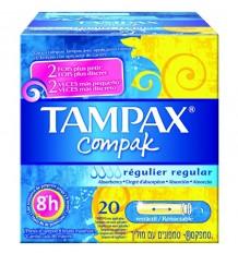 Tampax Compak Régulier 22 Unités