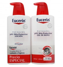 Eucerin Lotion pour le Bain et Gel douche 400 ml Pack