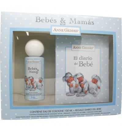 Bebes & Mamas Estuche Azul Colonia Diario de bebe