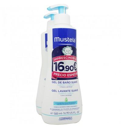 Mustela Bebe Gel Dermo Limpiador 500 ml Duplo