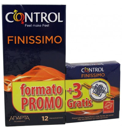 Control Preservativos Finissimo 12 unidades Regalo