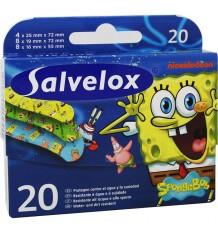 Salvelox Tiras Bob Esponja 20 Unidades