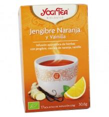 Yogi Tea Gengibre Laranja, Baunilha 17 Saquinhos