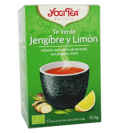 Yogi Tea Chá Verde, Gengibre Limão 17 Saquinhos