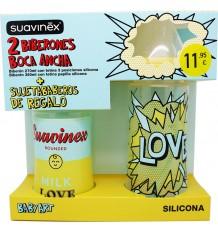 Suavinex Pack De Bouteille En Silicone Baby Art Pop