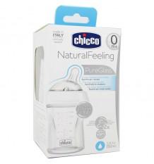 Chicco-Flasche aus Glas Schritt Bis 150 ml