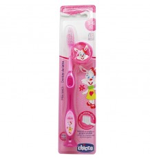 Chicco Pinsel Zähne 3-6 Rosa