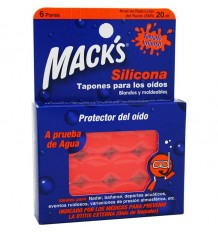 Macks Tapones Silicona Infantil 6 Pares