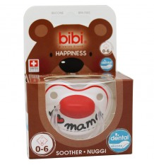 Bibi Soother Silicone I Love Breast 0-6 months