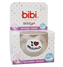 Bibi Soother Basic Silicone I Love Breast 6-16 months