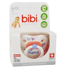 Bibi Soother Silicone I love You Mama 6-12 months