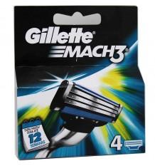 Gillette Mach3 Substituição 4 Unidades