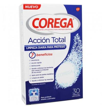 Corega Accion Total 30 comprimidos efervescentes