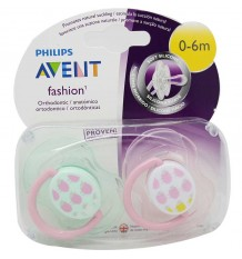 Avent Pacifiers Fashion 0-6 months pink