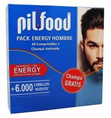 Pilfood de l'Énergie de l'Homme 60 Comprimés, Shampooing Anticaida 200 ml