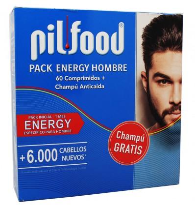 Pilfood Energy Hombre 60 Comprimidos Champu Anticaida 200 ml