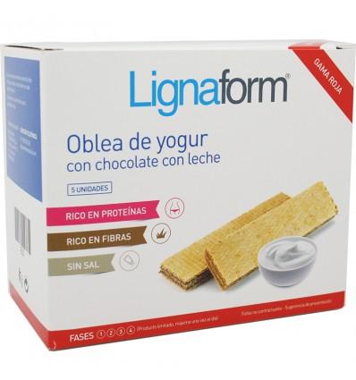 Lignaform Wafer Chocolate Iogurte Leite 5 Unidades
