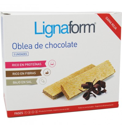 Lignaform Wafer Chocolate 5 Unidades