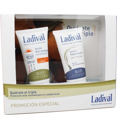 Ladival Antimanchas Spf50 Color 50ml+Serum Regenerador 50ml