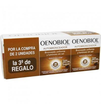 Oenobiol Triplo auto-bronzeador 90 cápsulas