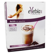 Ellebia Diet Shake Cappuccino Caixa 6 Envelopes