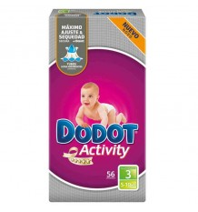 Dodot Pañal Activity T 3 5-10 kg 56 unds