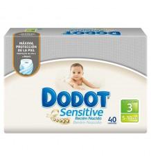 Dodot Pañal Sensitive T3 5-10 kg 40 unds